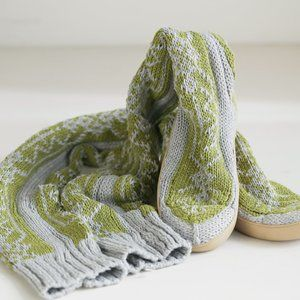 Gypsyz 05 Tall Knit Snowflake Boots Cozy Lounge